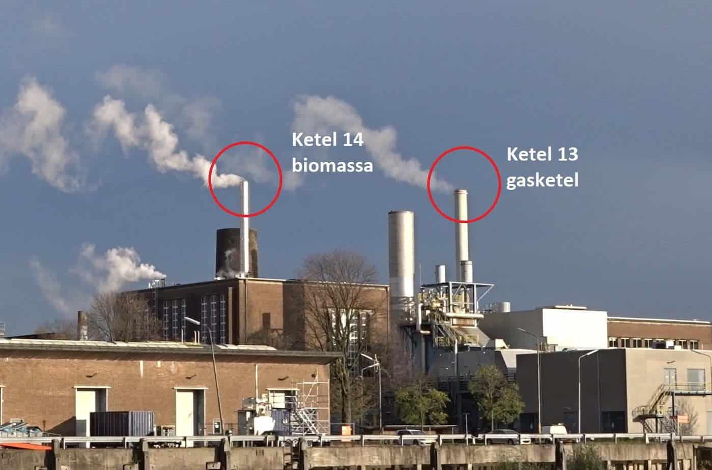 biomassacentrale schoorsteen